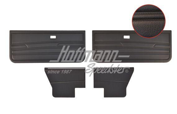 Panneaux De Portes Golf 1 Cabriolet Noirs Noir
