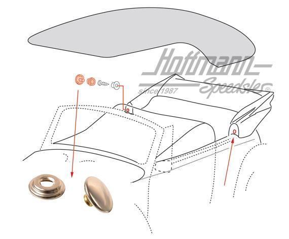 bouton pression housse de capote 57 pi ces de montage capotes de cabriolet pi ces de. Black Bedroom Furniture Sets. Home Design Ideas